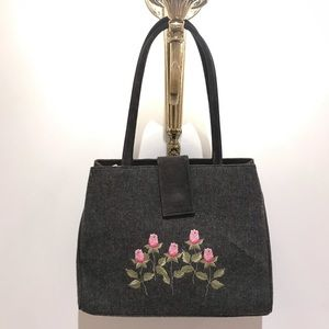 Isabella Fiore Embroidered Wool Bag
